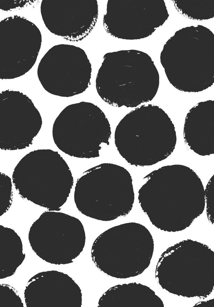 inky dots - Art Print by Georgiana Paraschiv