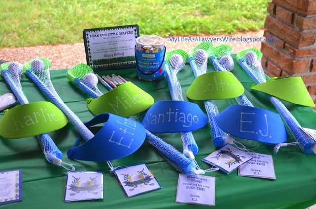 My Life as a Lawyer's Wife: E.J. is a Hole in ONE!: Golf-Themed First Birthday Party - favors