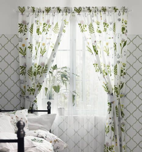 plant print! Green accents in the room! IKEA Catalog 2015