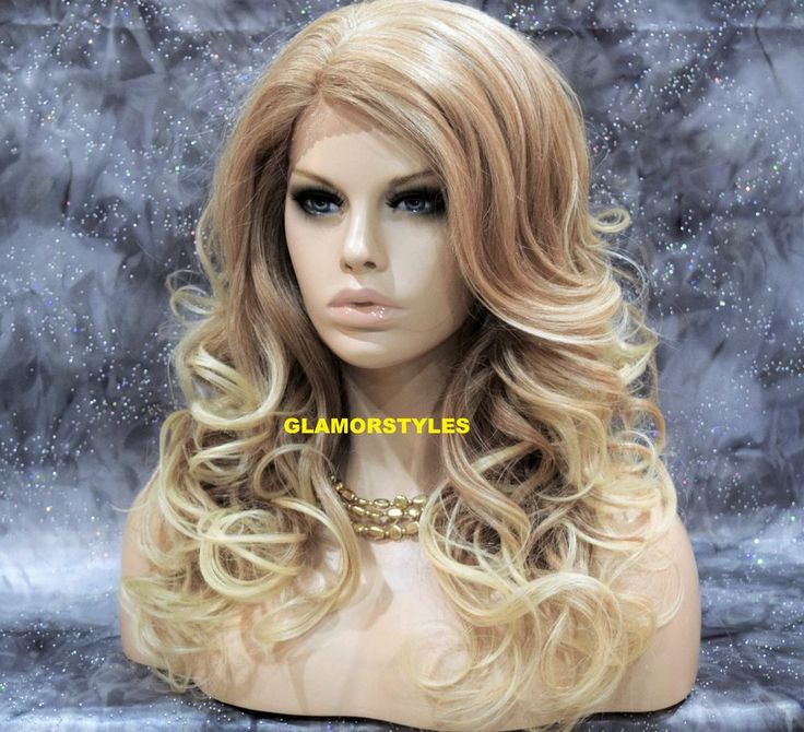 """27"""" Long Wavy Layered Blonde Mix Full Lace Front Wig Heat Ok Hair Piece #27.613  #Glamorstyles #Layered"""
