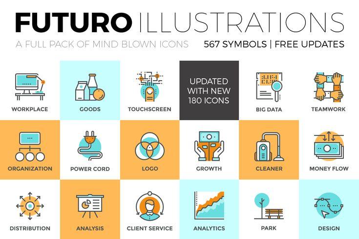 Futuro Illustrations Collection by Bloomua on Creative Market