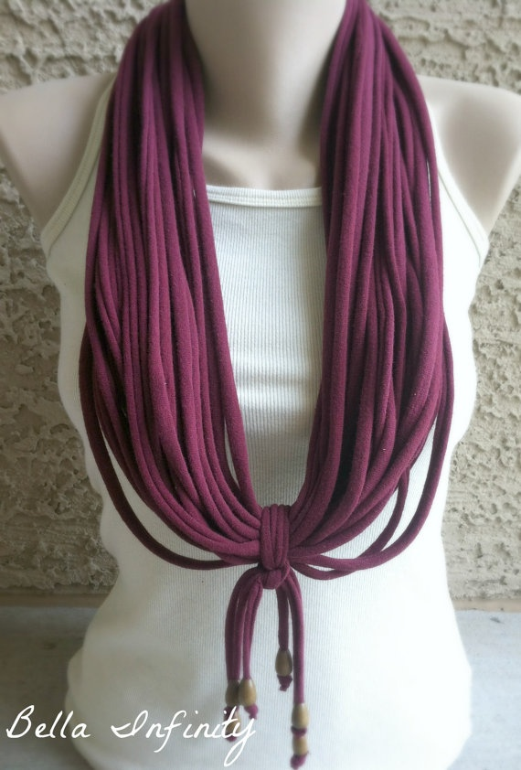 Bella Infinity Beaded Scarf Tassels Maroon by BellaInfinityScarves, $30.00  www.facebook.com/infinity0512