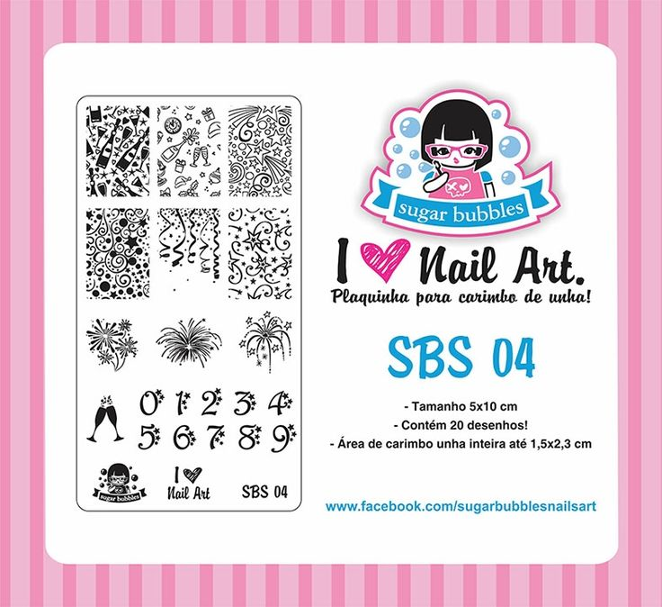 Small Nail Art Stamping Plate Sugar Bubbles SBS 04