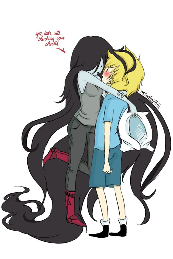 Marceline and Finn.