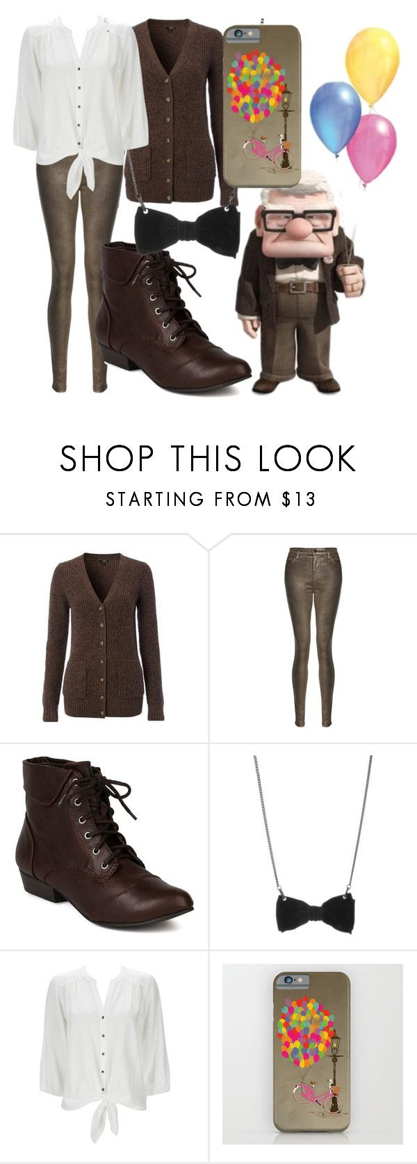 """""""Carl Fredricksen"""" by dutchveertje ❤ liked on Polyvore featuring NW3, J Brand, Breckelle's, Tatty Devine and Wallis"""