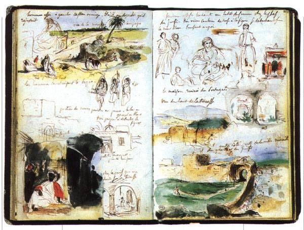 Delacroix´s sketchbook, Morocco