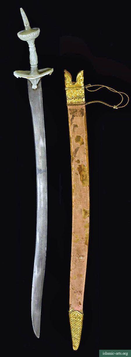 """Espada tipo """"talwar"""" con empuñadura de jade - India"""