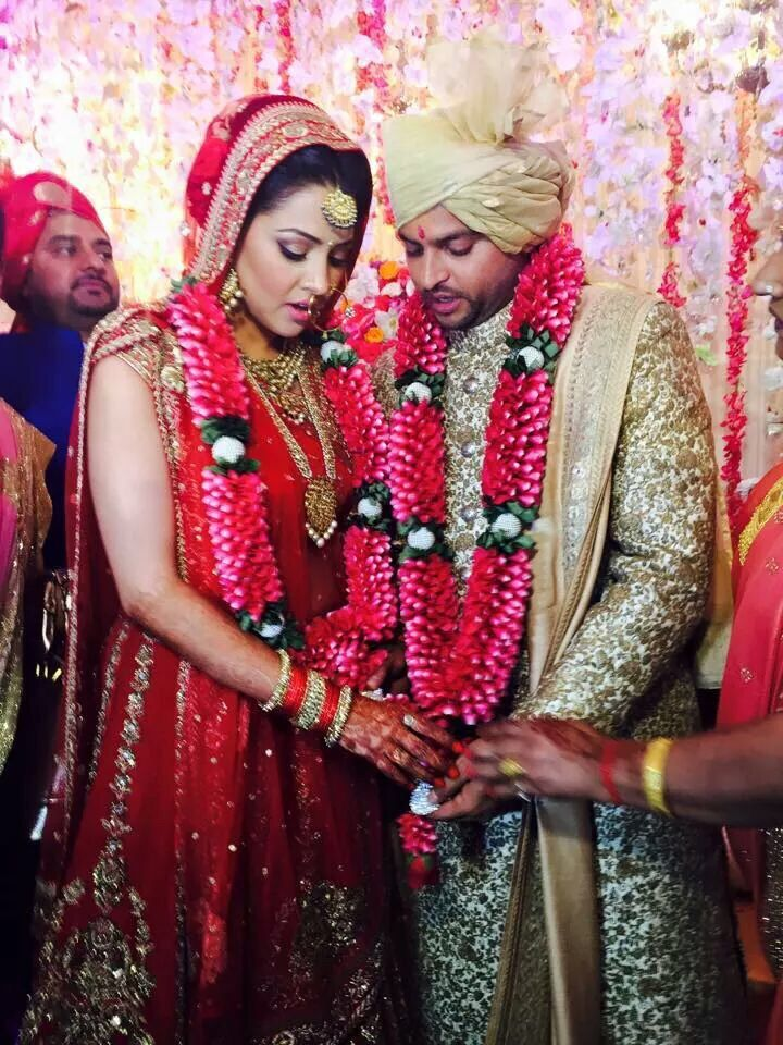 The Wedding Story Of Indian Cricketer Suresh Raina and childhood sweet-heart Priyanka Chaudhary