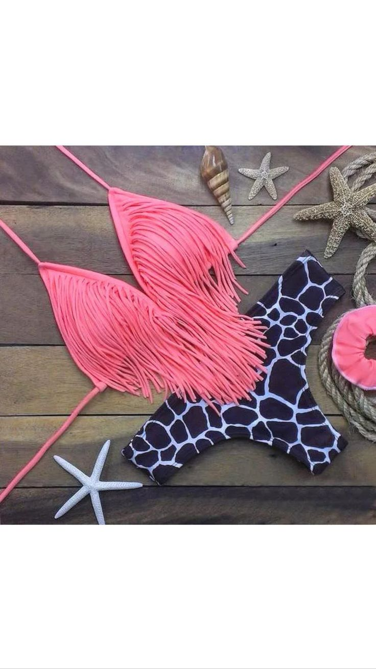 """PREORDERS today on this Padded Halter Pink Giraffe Fringe Bikini!! (poly/spandex) ALWAYS Free Shipping within the US!! ✨Remember preorders can take 3-6 weeks to arrive✨ S--Bust: 32""""/34"""" Waist: 22""""/24"""" Hips: 34""""/36"""" M--Bust: 34""""/36"""" Waist: 24""""/26"""" Hips: 36""""/38"""" L--Bust: 36""""/38"""" Waist: 26""""/28"""" Hips: 38""""/40"""" 