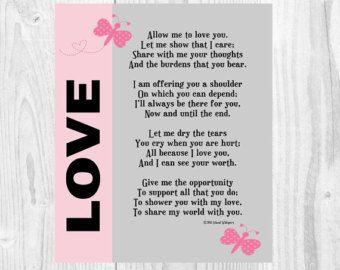 Valentine Poem I Love You Poem Valentine Gift by IslandWhispers