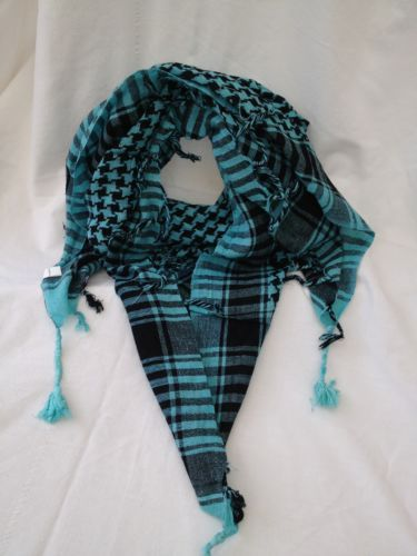 Arab Scarf in Turquoise /Black