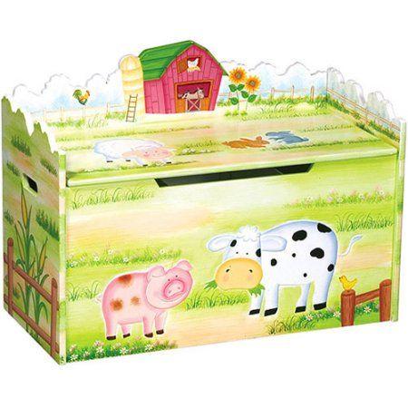 Guidecraft Little Farm House Toy Box, Multicolor