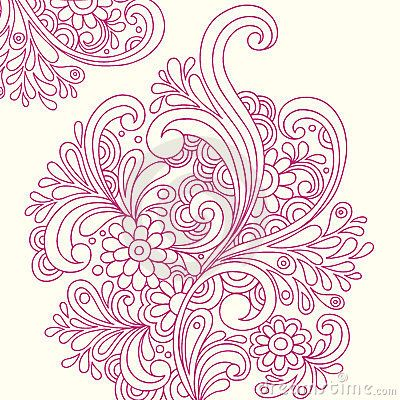 doodle henna abstract flowers vector tatts pinterest henna abstract and henna flowers. Black Bedroom Furniture Sets. Home Design Ideas