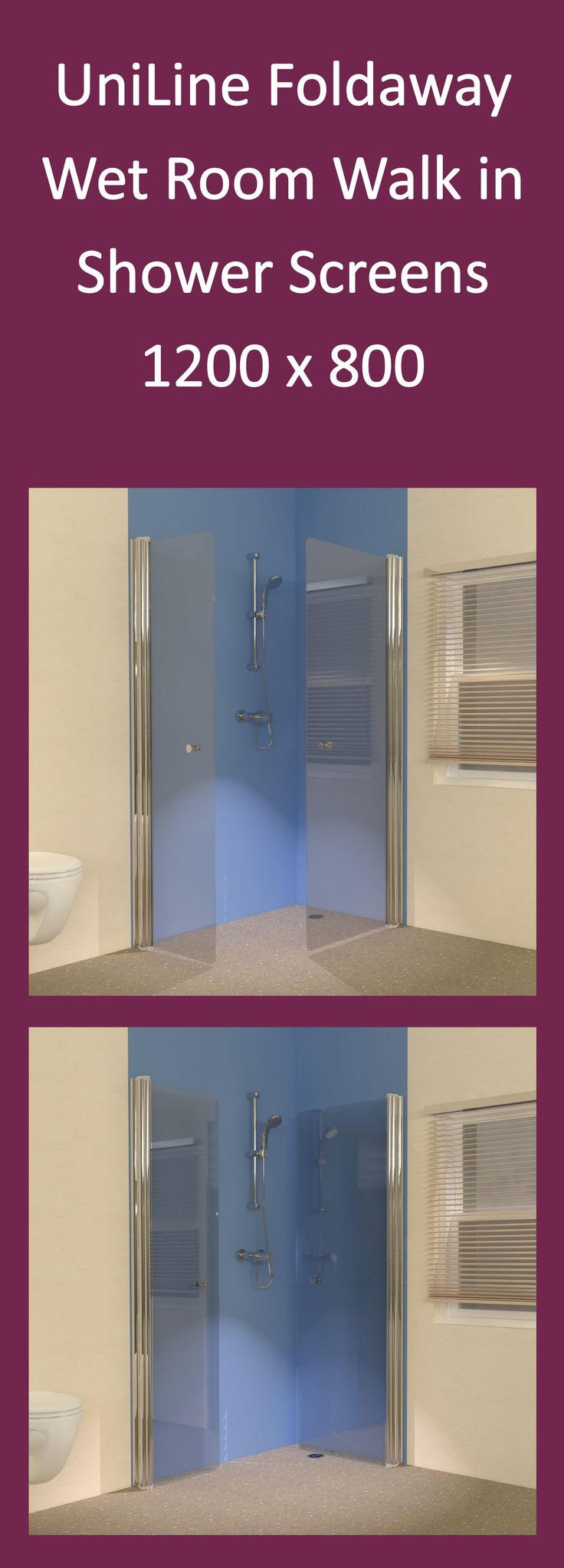 Foldaway Walk in Showers for Wet Rooms. See more.... http://www.unishower.co.uk/wet-room-shower-screens.html