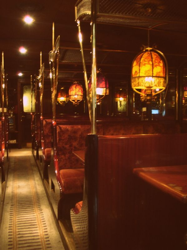 train style restaurant.