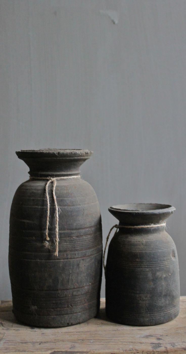 Grey pots.