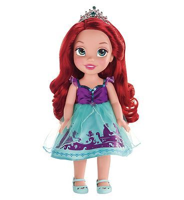 Disney Princess My First Disney Princess Ariel Toddler 10158415 72 Advantage card points. My First Disney Princess Ariel Toddler is an adorable doll with your favourite Disney princess re-imagined as a toddler! FREE Delivery on orders over 45 GBP. (Barcode EAN=067 http://www.MightGet.com/april-2017-1/disney-princess-my-first-disney-princess-ariel-toddler-10158415.asp