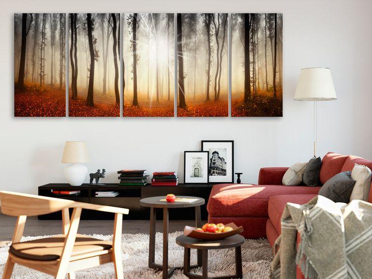 Klasyczny pejzaż sprawdzi się na ścianie nie tylko w salonie - ten duży obraz na płótnie jest też odpowiednią dekoracją do każdego innego eleganckiego pomieszczenia