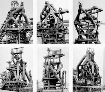 The masters of typologies, such a fantastic celebration of architecture, industry, photographic media and conceptual art. Check out this online photography book. http://www.photography-now.net/bernd_and_hilla_becher/portfolio1.html