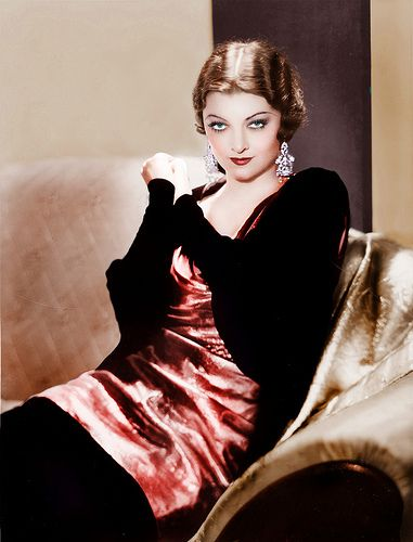 Myrna Loy. She is one of my most favorite actresses.