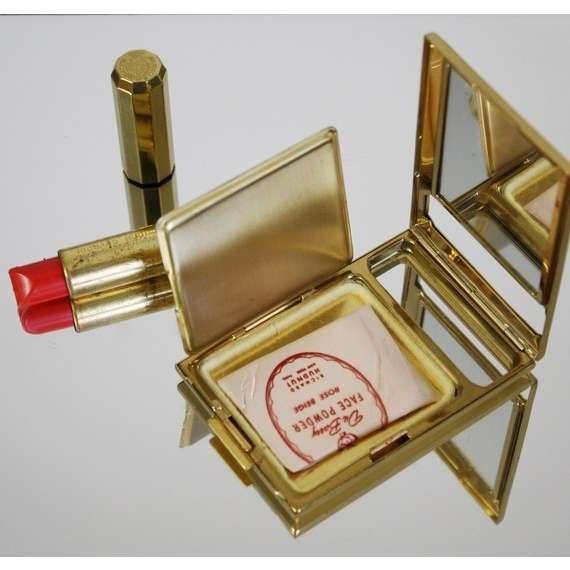 Vintage Richard Hudnut Compact & Lipstick set