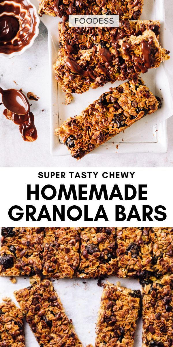 Super Tasty Very Easy Healthy Granola Bars Foodess In 2020 Healthy Granola Bars Granola Healthy Granola Recipe Bars