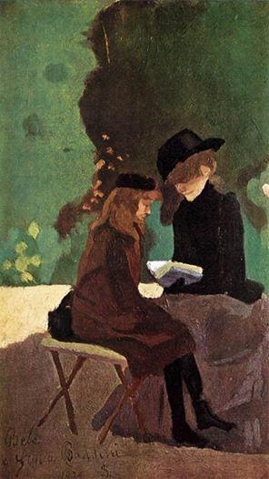 "Silvestro Lega (1826-1895)  ""La lettura"" 1875"