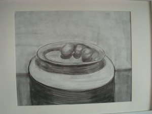 I love to draw with charcoal