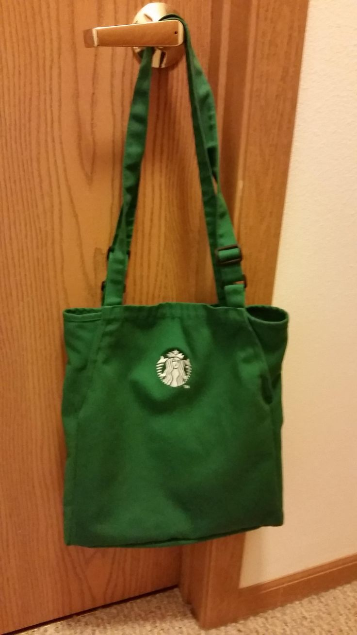 Bag made from old Starbucks apron