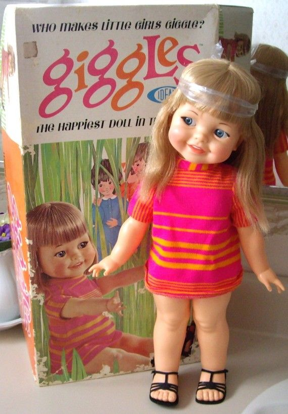 Ideal Giggles Doll from 1966, MINT IN BOX, Still Giggles and Wiggles via Etsy