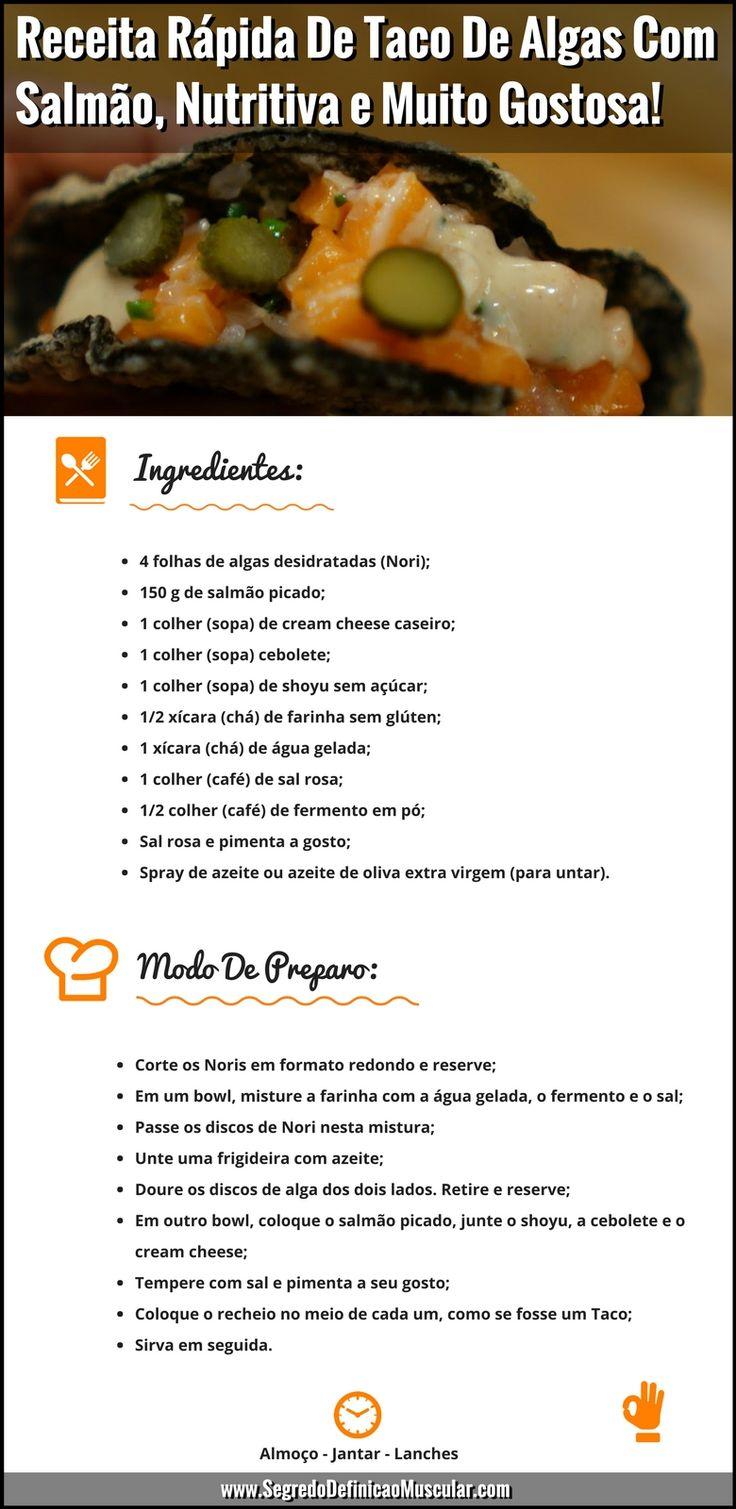 Receita Rápida De Taco De Algas Com Salmão 👌😉    Clique ➡ https://segredodefinicaomuscular.com/algas/    Se gostar da receita compartilhe com seus amigos 👍    #receitasfit #receitas #recipes #fit #receitafit #taco #sushi  #algas #nori #fit #AlimentaçãoSaudável  #EstiloDeVidaFitness  #ComoDefinirCorpo  #SegredoDefiniçãoMuscular