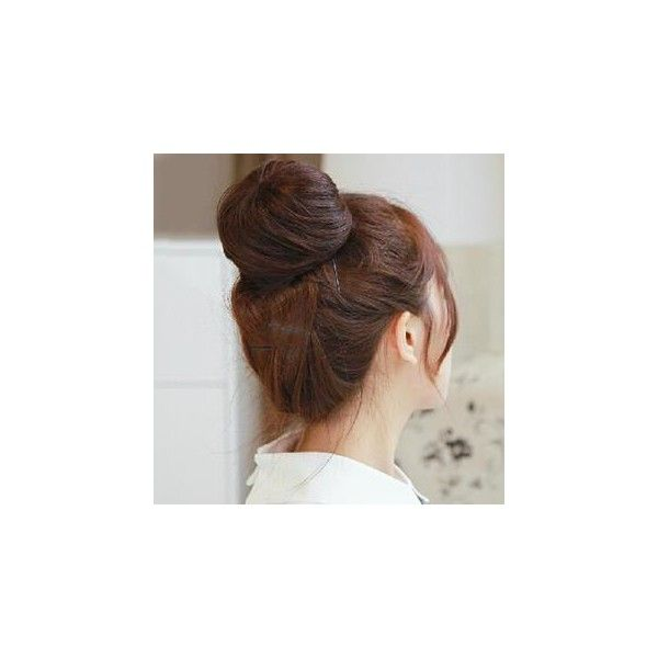 Human Hair Hair Bun (39 BAM) ❤ liked on Polyvore featuring beauty products, haircare, hair styling tools, hair, hairstyles, hair styles, cabelos, accessories and wig