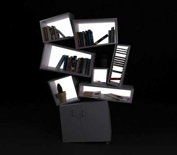 Charming Unusual Furniture Ideas For Living Room Unique Modern Bookshelf By Tembolat Gugkaev    LaurieFlower