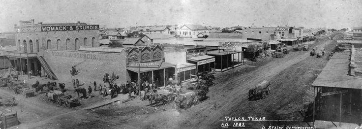 Taylor, Texas in 1883.
