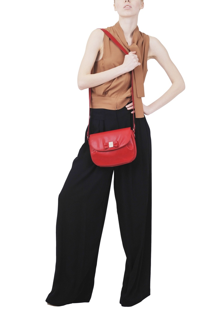 See by Chloe' pant and top, Sonia by Sonia Rykiel bag