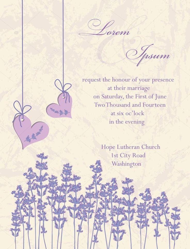 Svatební pozvánky, letáky design, obal design. levandule pozadí, výrobek popisky obrázku