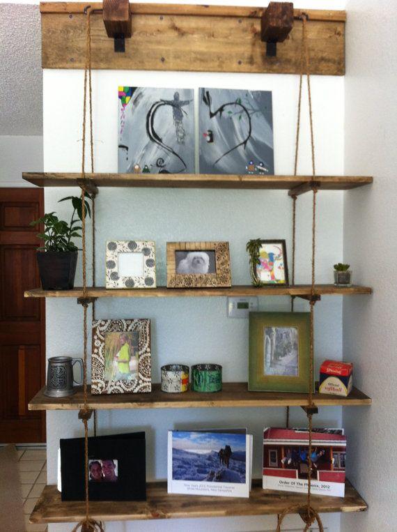 Hanging Bookshelves 10 best hanging shelf images on pinterest | hanging shelves, shelf