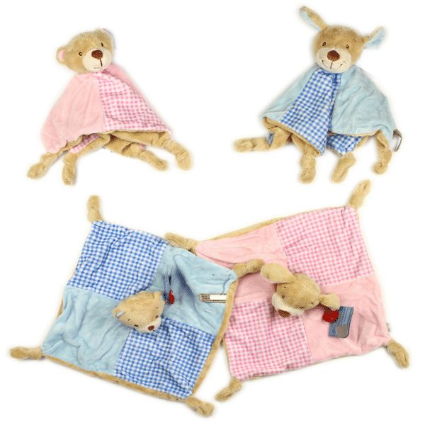Cute snuggly bear and puppy comfort blankets by Keel (bac0616)