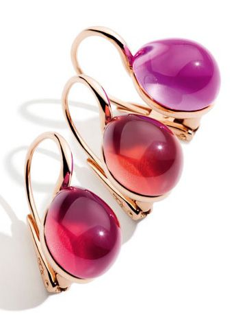 Pomellato's Rouge Passion Collection Earrings