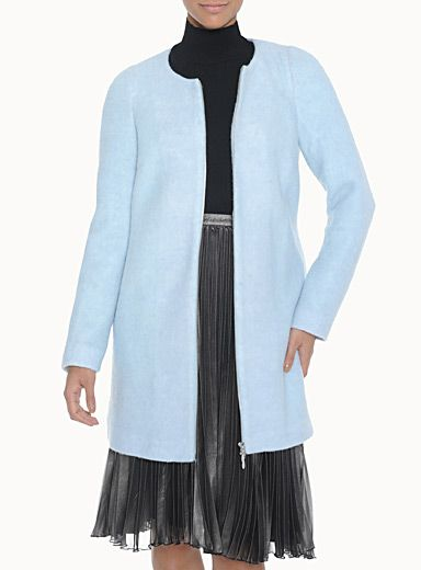 Icone Blue Cocoon Coat from Simons