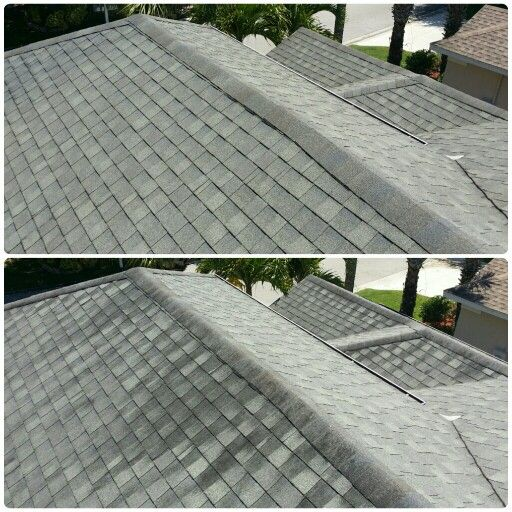 Best 9 Shingle Roof Cleaning Before And After Photos images on – Cleaning Roof Shingles