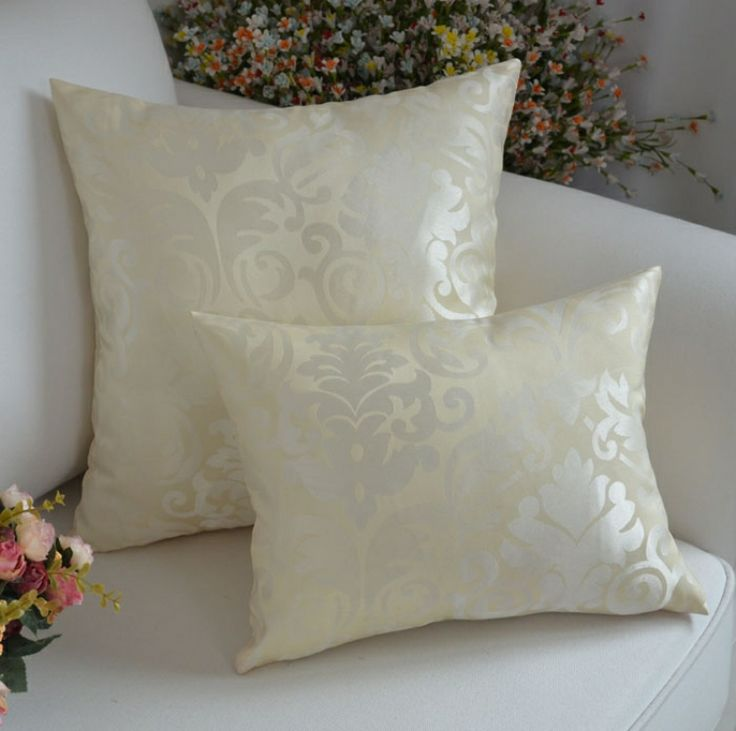 Wholesale Classic pillow  cover 2 pieces/A lot/white european  jacquard cushion cover/wedding pillow cover free shipping $21.99