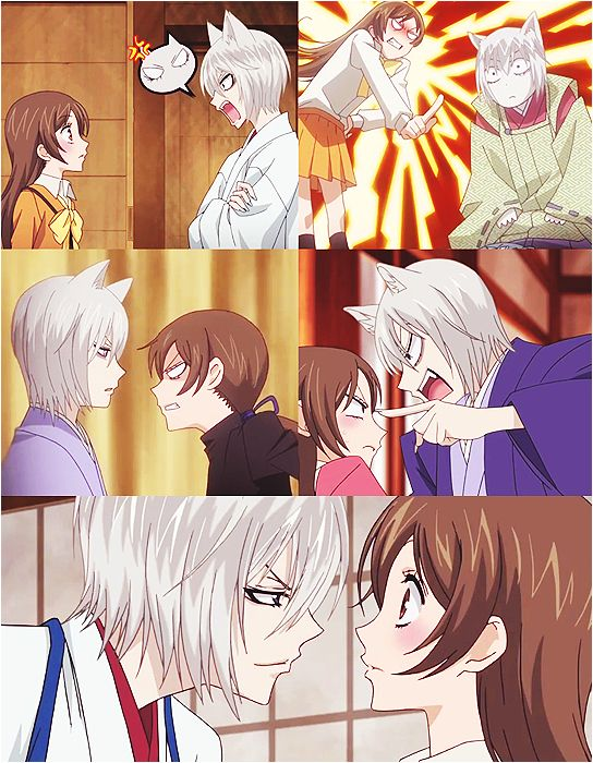 kamisama hajimemashita <3 OTP - I love how she does whatever the hell she wants, whenever she wants. She doesn't take commands and she fights back. And I also love how Tomoe deals with her. xD They are such a perfect match!
