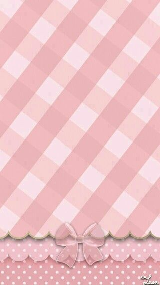 Pink Plaid & Bow Wallpaper.