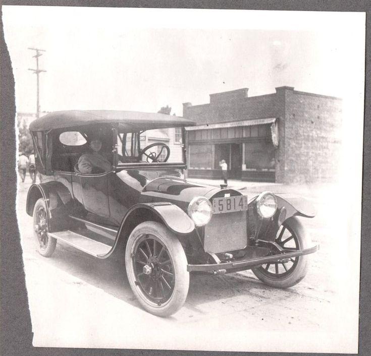 VINTAGE PHOTOGRAPH 1913-15 MONTE RIO FAIRFAX CALIFORNIA GIRL OLD CAR AUTO PHOTO
