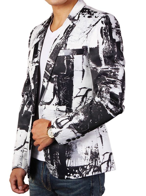 Abstract Black White Artistic Mens Designer #Blazer #mens #fashion #style #onlineshop #betterblazers Get price http://www.betterblazers.com/sale/mens-suits986896985/sport-coats/mens-fashion-blazers-c-34.html