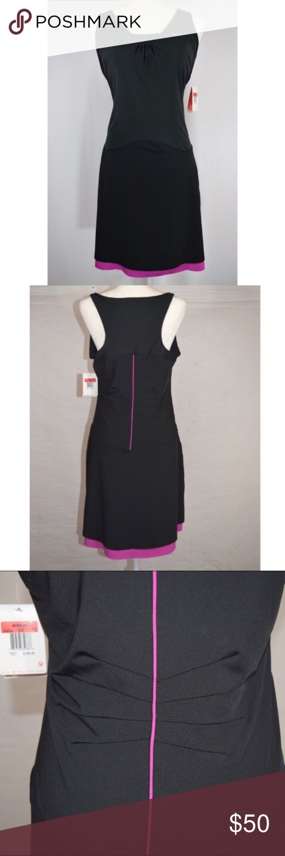 """NWT Nike Serena Williams Dri Fit Tennis Dress Nike tennis dress🔹Dri-Fit material🔹Sphere React Cool🔹Size large🔹Black and pink🔹Brand new🔹Serena Williams🔹Built in bra🔹Body is 86% polyester and 14% spandex🔹Dress measures approx 37.75"""" from top of shoulder to bottom hem🔹Smoke and pet free home Nike Dresses"""