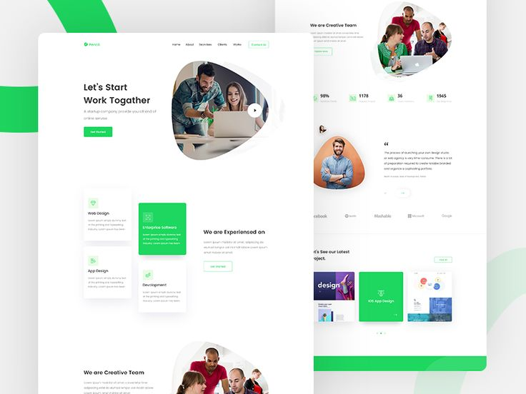 Agency Landing Page Concept In 2020 Web Design Quotes Clean Web Design Web Layout Design