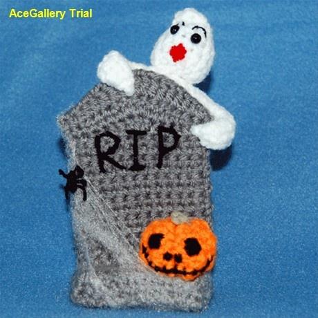 PixieKitten - Halloween Tombstone crochet