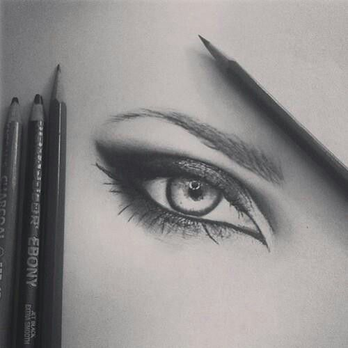Amazing drawing of an eye